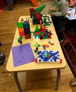 The Construction Crew mid design and build of their first city